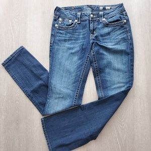 Miss Me Dark Wash Boot Cut Jeans Size 31